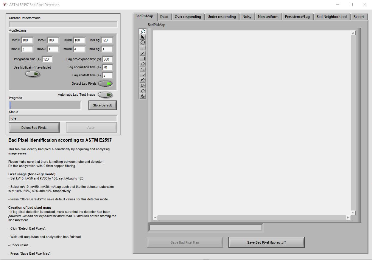 Figure 4: ASTM E2597 Dead Pixel Detection