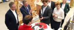 VisiConsult in Stockelsdorf welcomes Mayor Samtleben and Minister Dr. Buchholz
